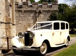 White Rolls Royce for wedding hire in Barnsley